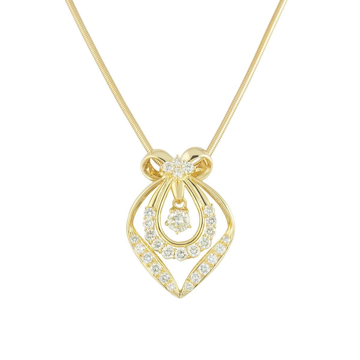 Yellow Gold Diamond Pendant 1.87ct